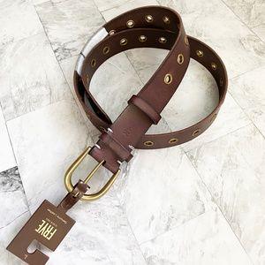 NEW Frye Grommet Leather Belt